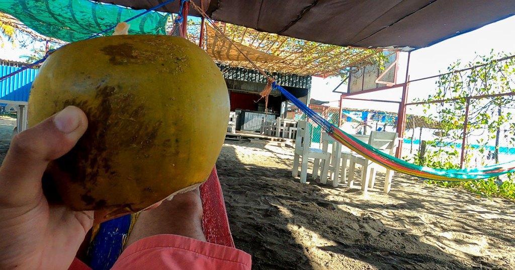Un relax con el respectivo coco