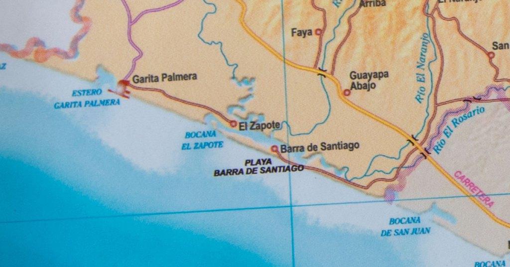 Ubicación de Barra de Santiago, Ahuachapán, El Salvador