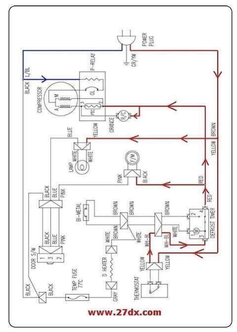 esquema electrico de una nevera