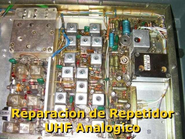 reparación repetidor analogico de UHF