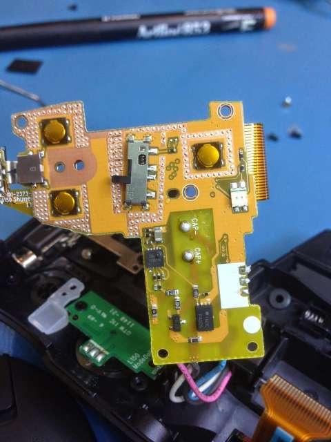 reparar camara digital Fujifilm FinePix interruptores de power de zoom