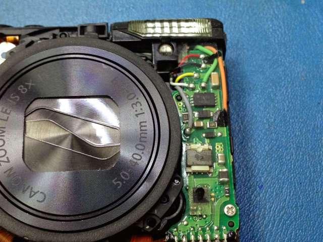 reparar camara canon circuito integrado que carga el flash