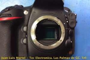 Reparación de camara de fotos DSLR Nikon modelo D800