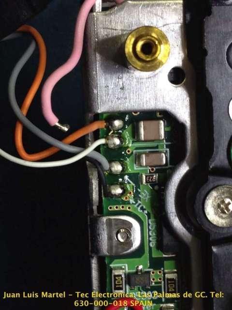 Circuito impreso de la placa del flash de una cámara fotográfica Nikon modelo D 60
