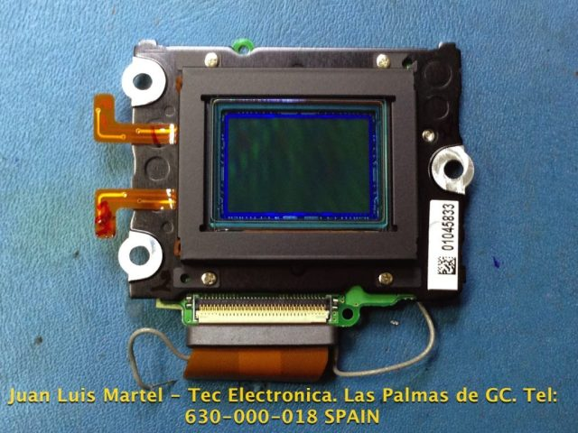Unidad del CCD desmontada en cámara fotográfica Nikon modelo D 60