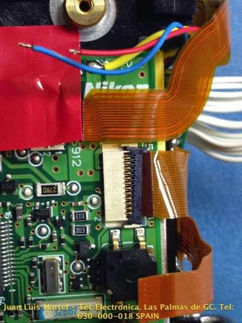 Fallo en conexión de circuito en cámara fotográfica Nikon modelo D 60