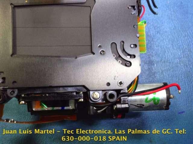 Motor de secuencia y cortinillas en cámara fotográfica Nikon D 60