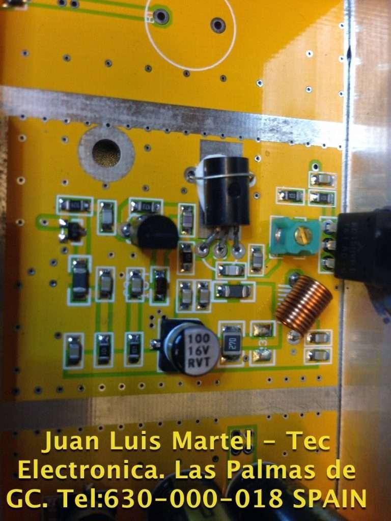 Servicio tecnico en Las Palmas de Gran Canaria, Reparacion de Emisora de FM comercial circuito de paso final