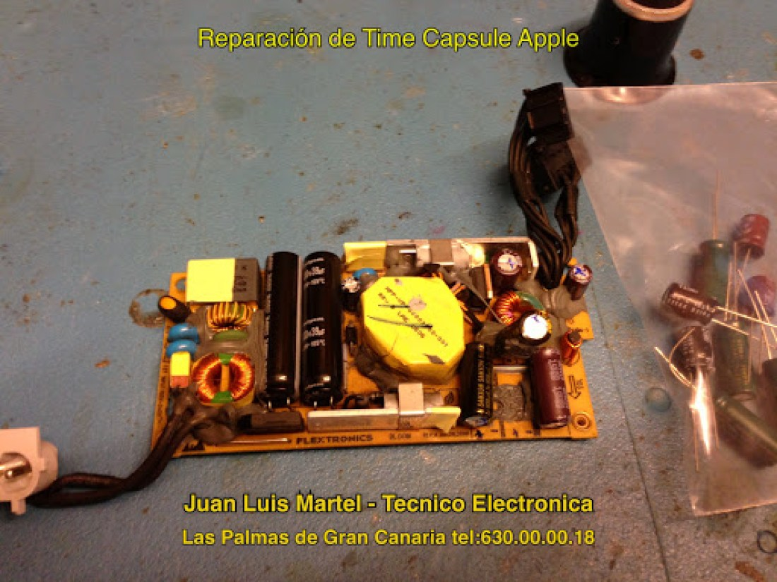 reparar apple en las palmas time capsule no enciende