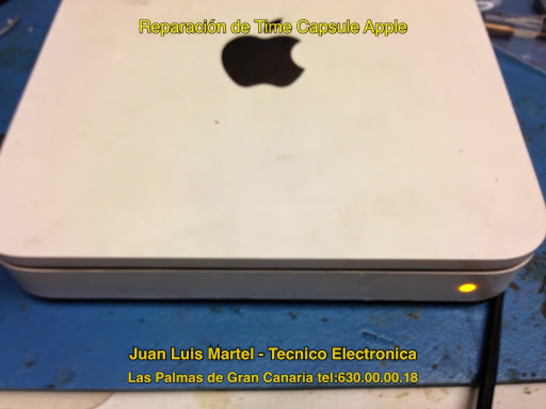 Reparar apple en Las Palmas Time Capsule averiado con led en Naranja.