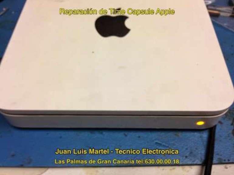 Reparar apple en Las Palmas Time Capsule averiado con led en Naranja.