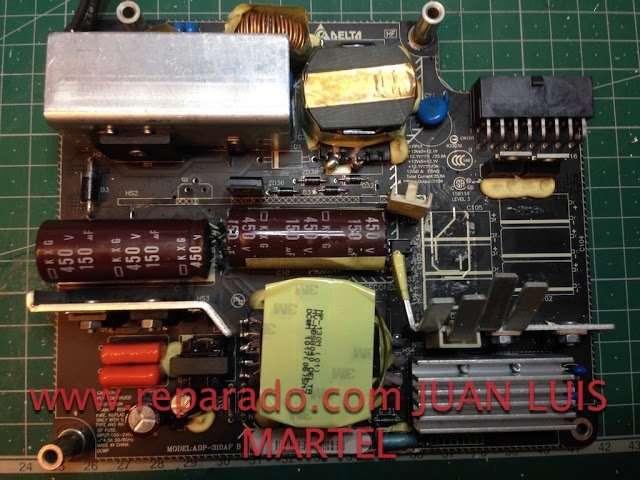 fuente de alimentación iMac mal condensadores
