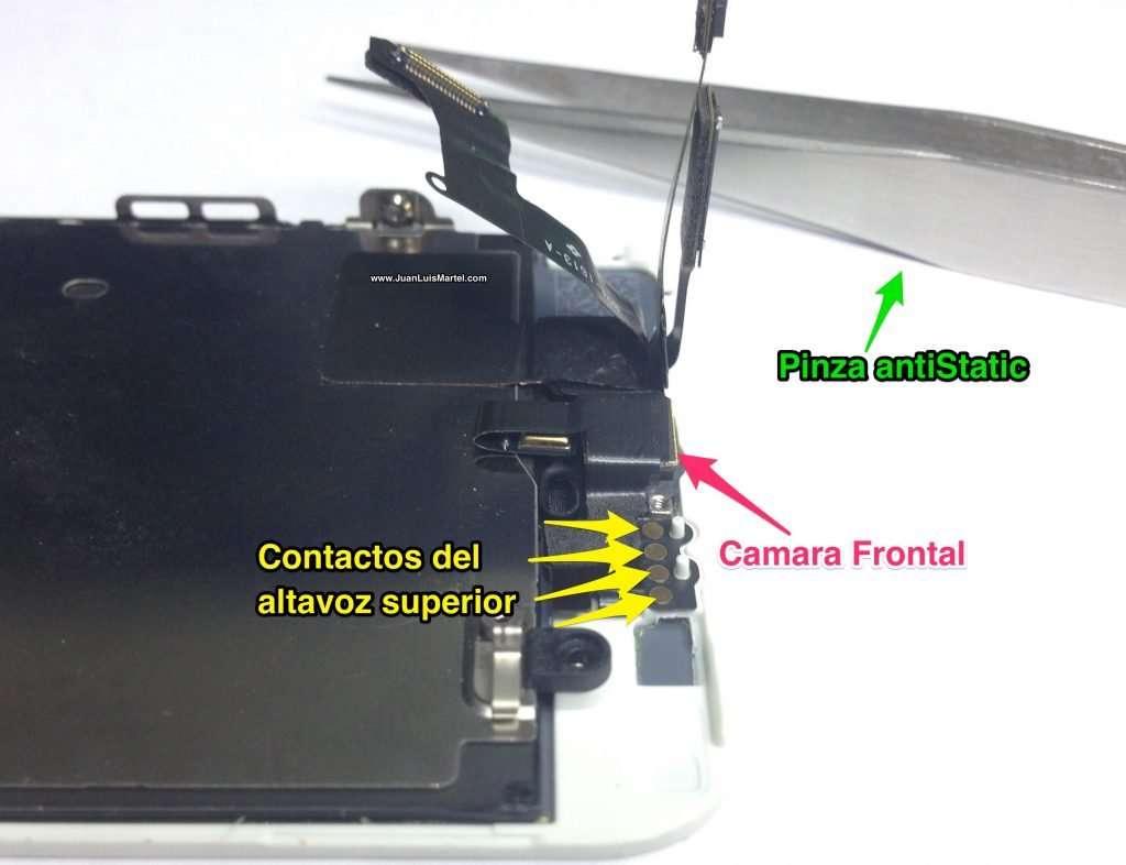 Reparación de speaker superior o receiver de iPhone en Las Palmas