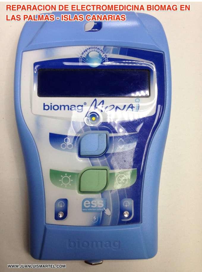 Servicio técnico de equipos médicos en Las Palmas repagino de BIOMAG MONAI