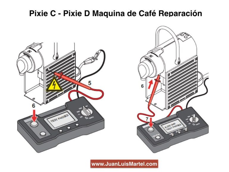 toma de tierra de cafeteras eléctricas nespresso
