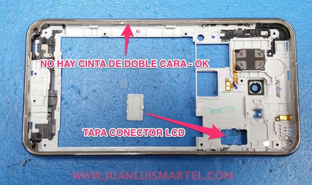 tapa de test pantalla LCD, cinta de pegar de doble cara