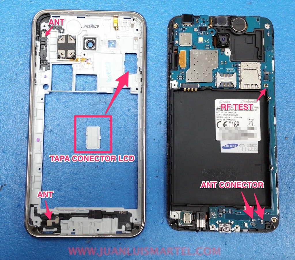 cambiar pantalla LCD, tapa de LCD test