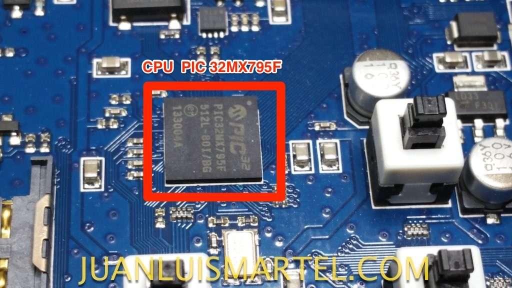 reparación de biomag lumia circuito microprocesador o cpu PIC de microchip
