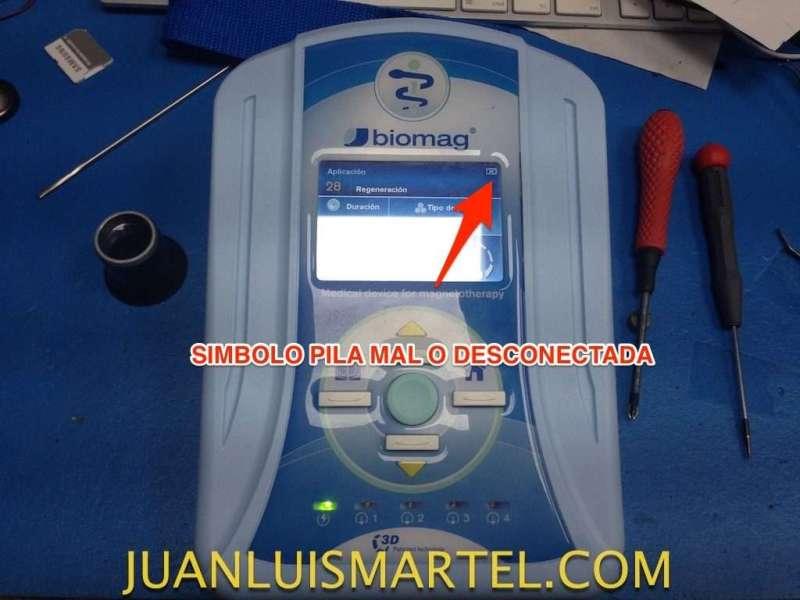 reparación de biomag lumina error de la batería mal o desconectada
