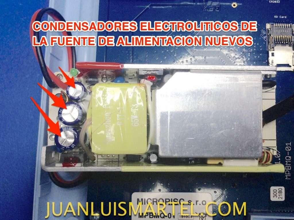 reparación de biomag lumina reparación de condensadores rotos en la fuente de alimentación interna