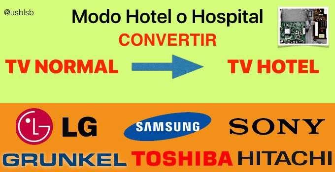 tv hotel - activar modo hotel - Servicio técnico en Las Palmas