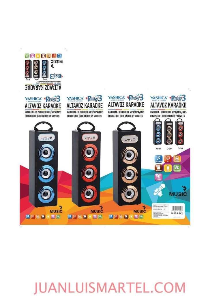 diseño de caja OEM altavoz karaoke mp3 chino Juan Luis Martel