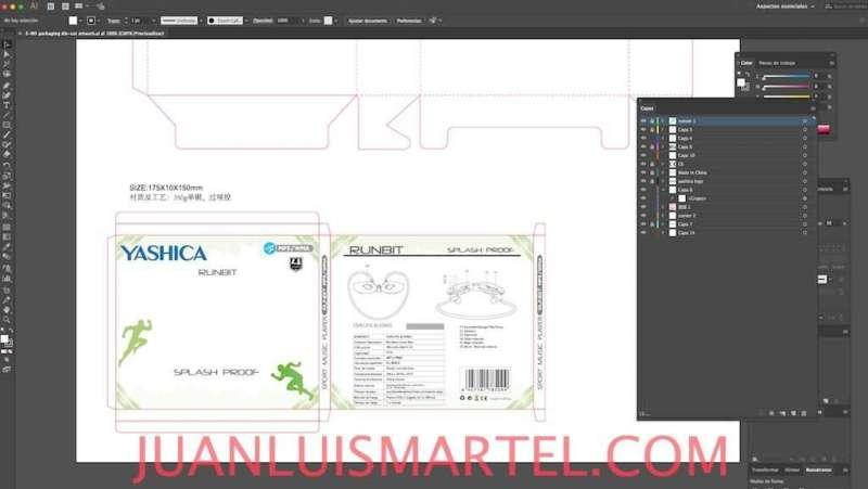 diseño de caja OEM auricular deportivo mp3 Juan Luis Martel