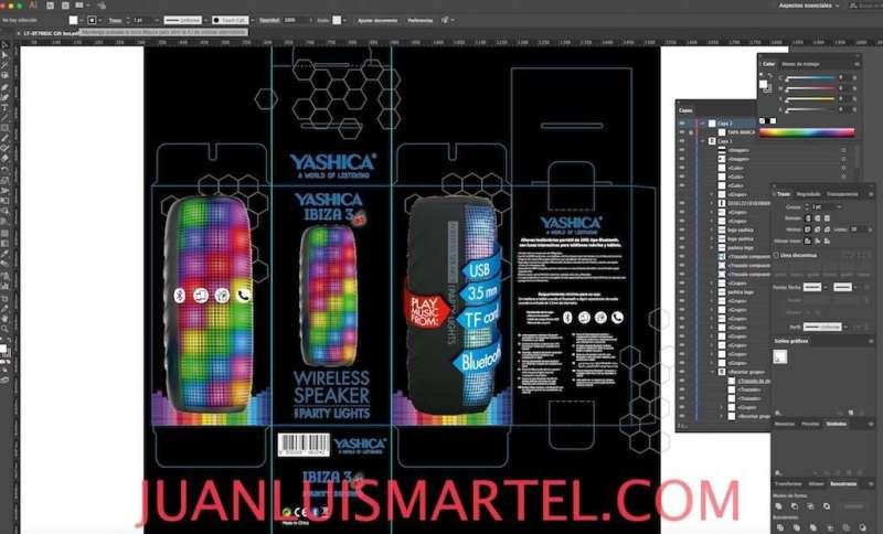 diseño de caja OEM altavoz potente mp3 chino Juan Luis Martel