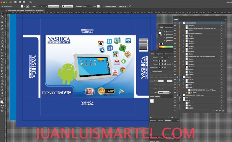 diseño de caja OEM tablet chino Juan Luis Martel