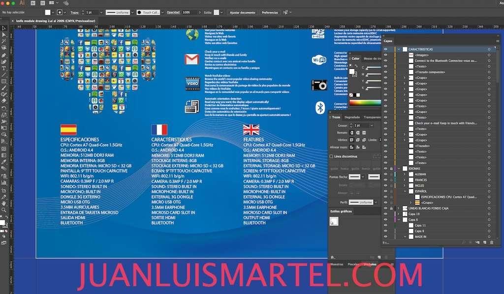 diseño de caja OEM traducccion al español Juan Luis Martel