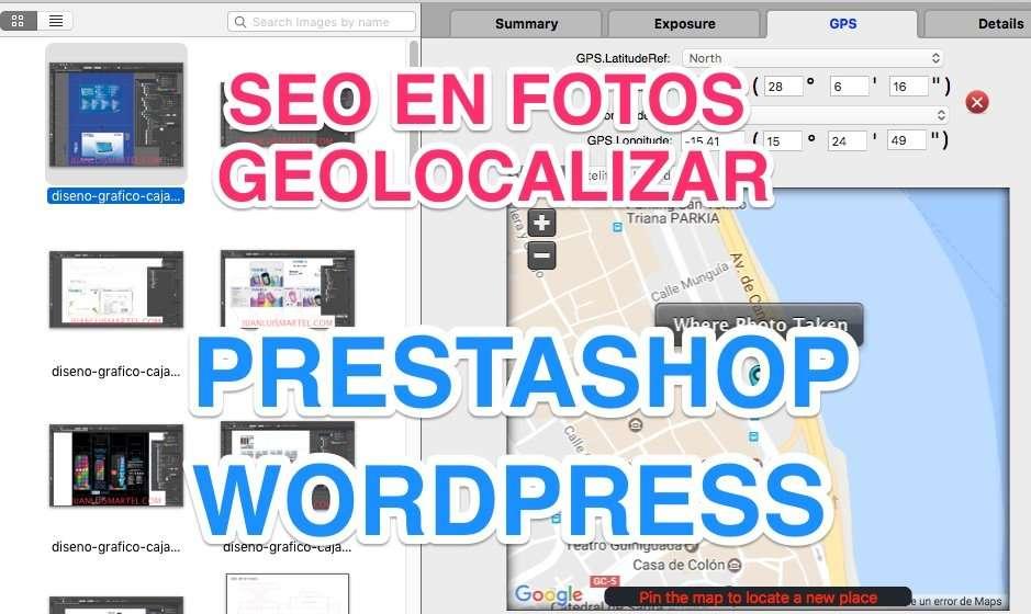seo en fotos - Diseño Prestashop en Las Palmas