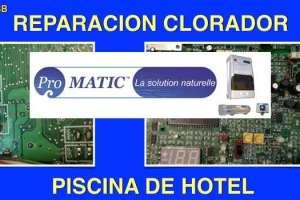 Reparación Clorador salino PROMATIC Monarch Piscinas de hoteles