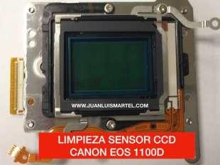 limpieza de sensor CCD Canon