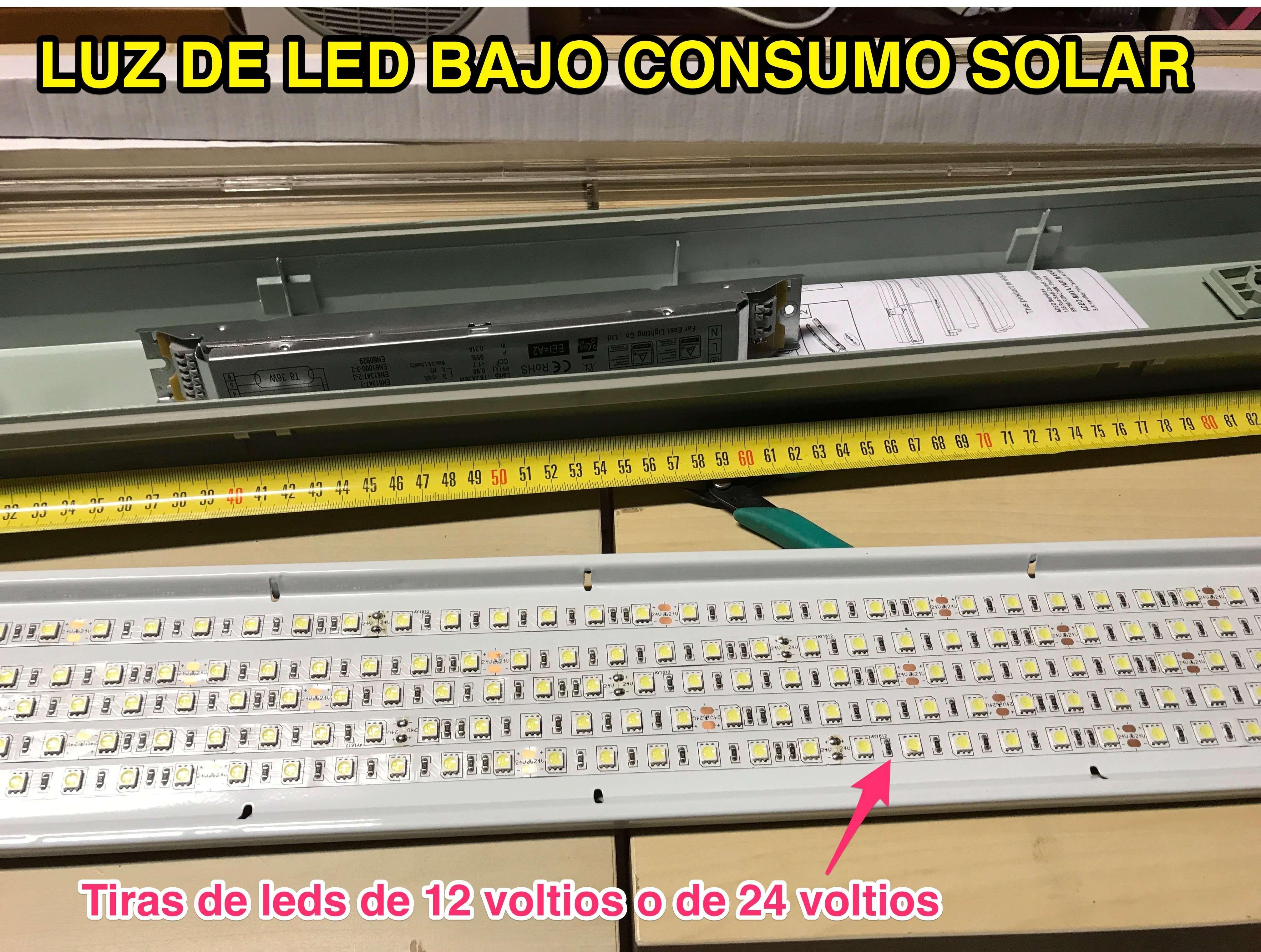 Construcción de luz solar de bajo consumo a diodos leds