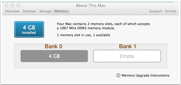 MacBook Pro Memory Banks