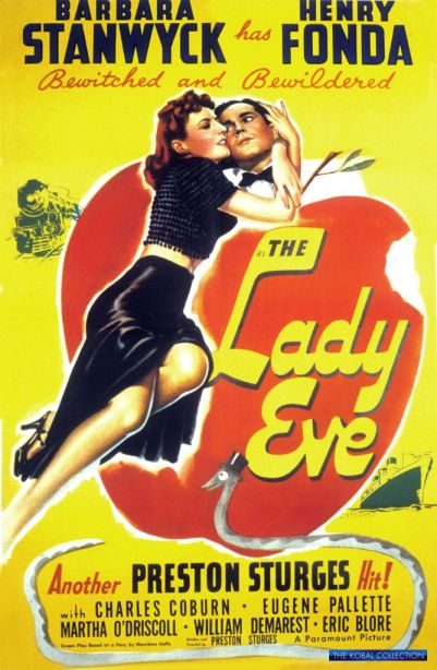 The Lady Eve has her clutches of Adam Henry Fonda. PARAMOUNT/The Kobal Collection.