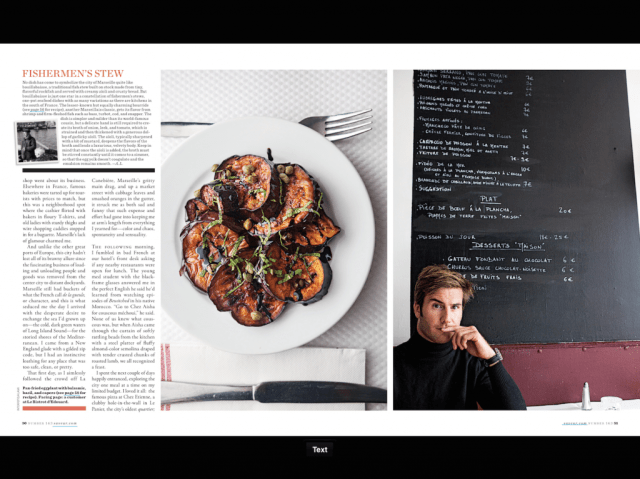 The digital version of Saveur is difficult to read.
