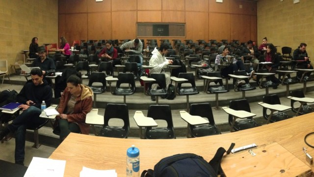 My poor students need a break. We also need a smaller classroom than Kiely 264.
