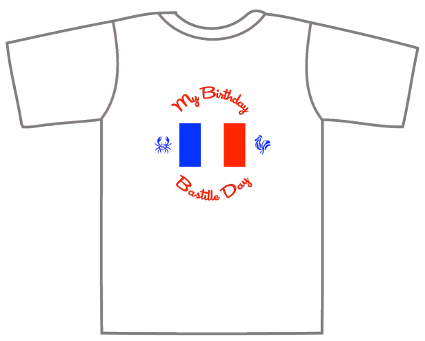 Birthday Bastille Day T-Shirt