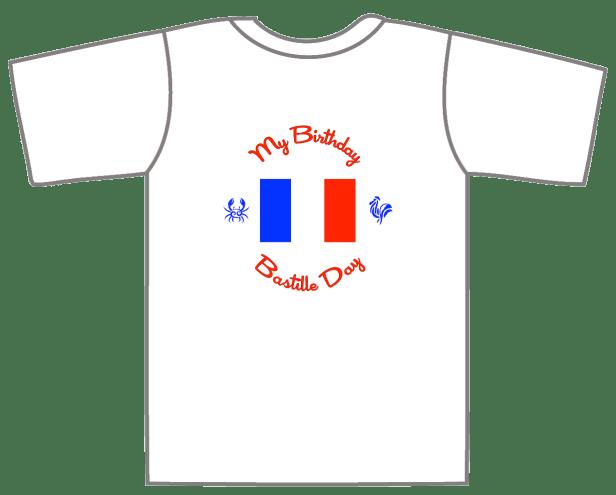 Birthday Bastille Day T-Shirt