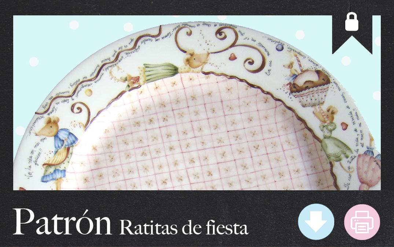 Ratitas de Fiesta, Pintura sobre porcelana