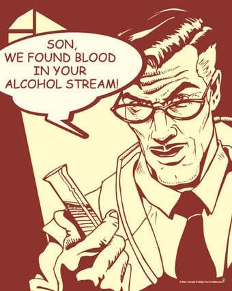 Chaval, hemos encontrado sangre en tu torrente alcohólico