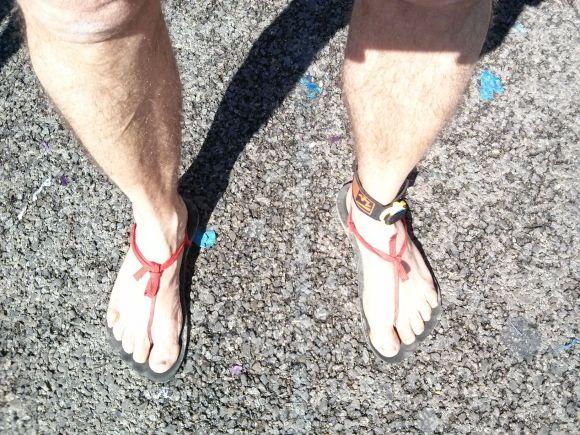 Los pies a la llegada. Sin daños apreciables ;-)