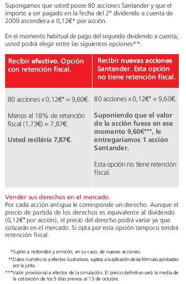 Dividendo Elección Santander
