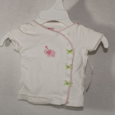 Carter's Pink Elephant Button-Down Top | Newborn