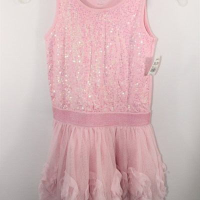 Children's Place Pink Sequined Dress | Size 8