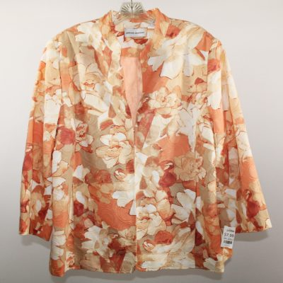 Alfred Dunner Peach Floral Jacket | 2XL