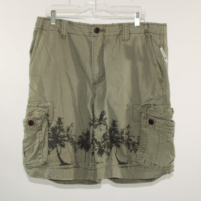 Aeropostale Cargo Shorts with Palm Tree Print | Size 36