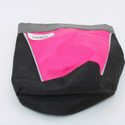 Small Pink/Black Clip On Bag