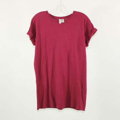 H&M Divided Maroon T-Shirt | Size XS